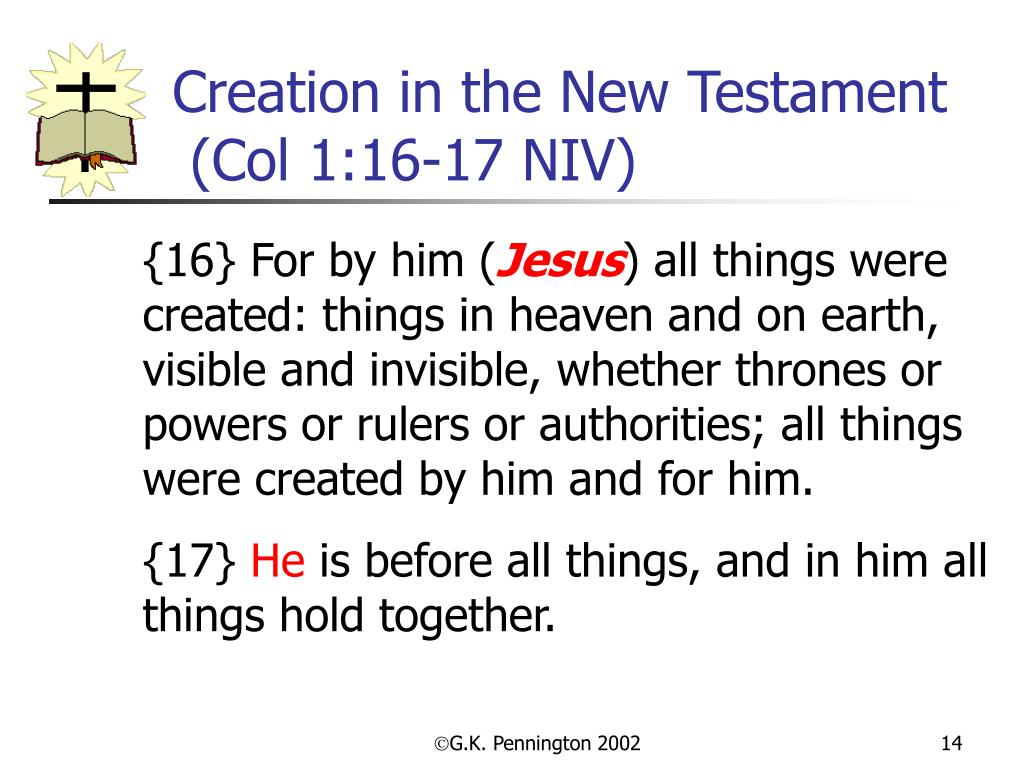 Creation in the New Testament