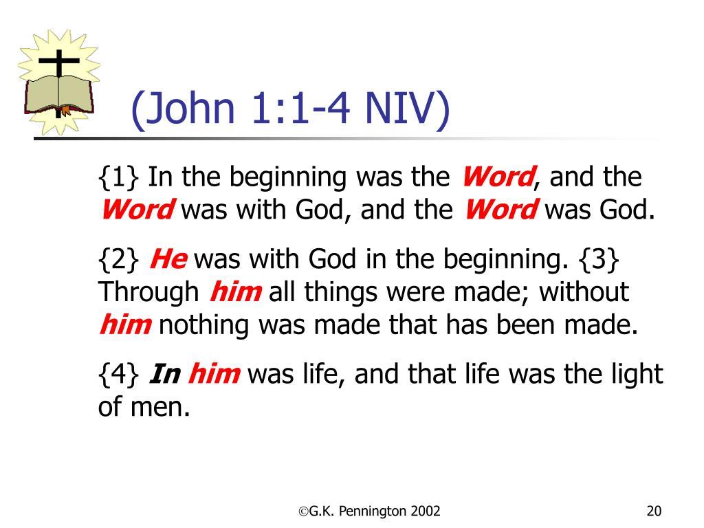 (John 1:1-4 NIV)