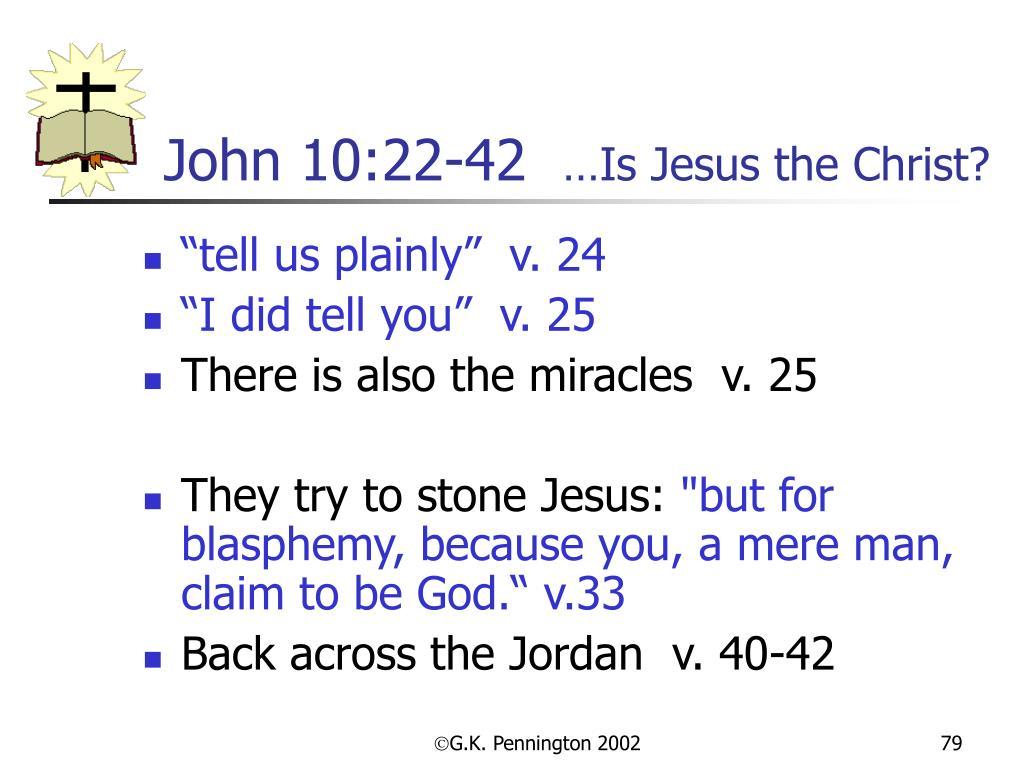 John 10:22-42