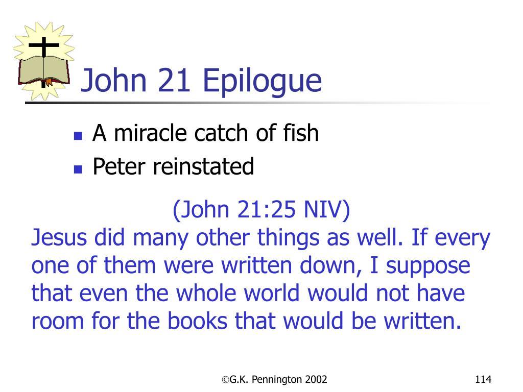 John 21 Epilogue