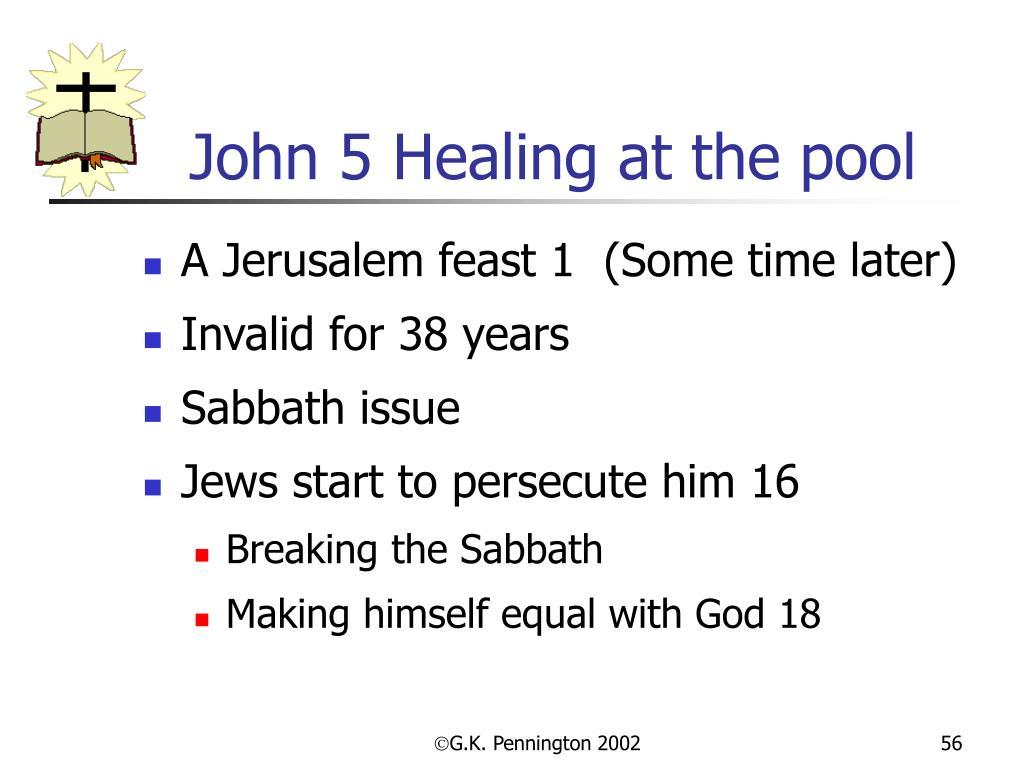 John 5 Healing at the pool