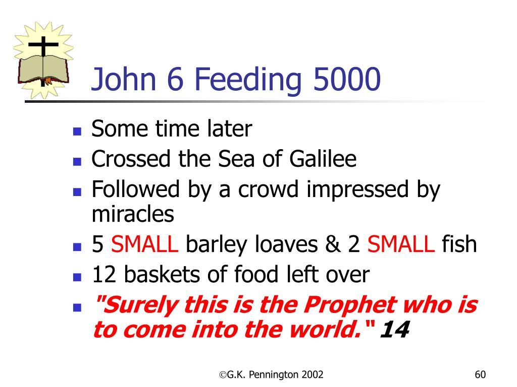 John 6 Feeding 5000