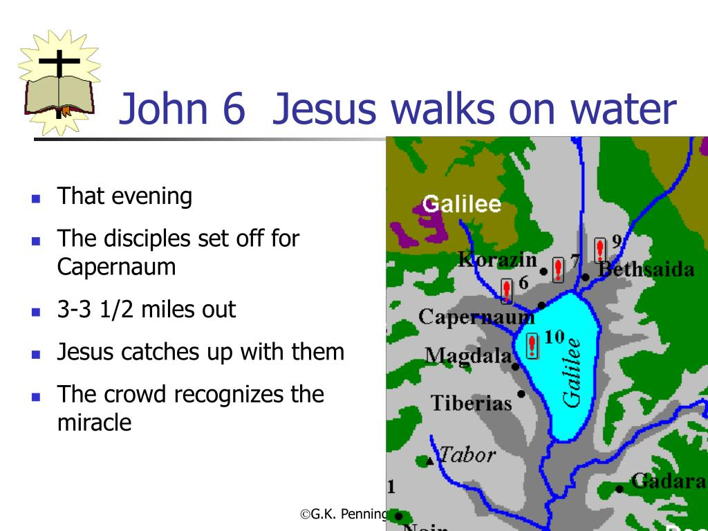 John 6  Jesus walks on water