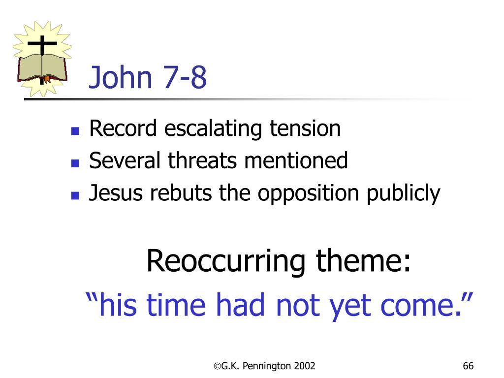 John 7-8