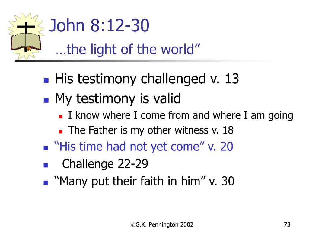 John 8:12-30