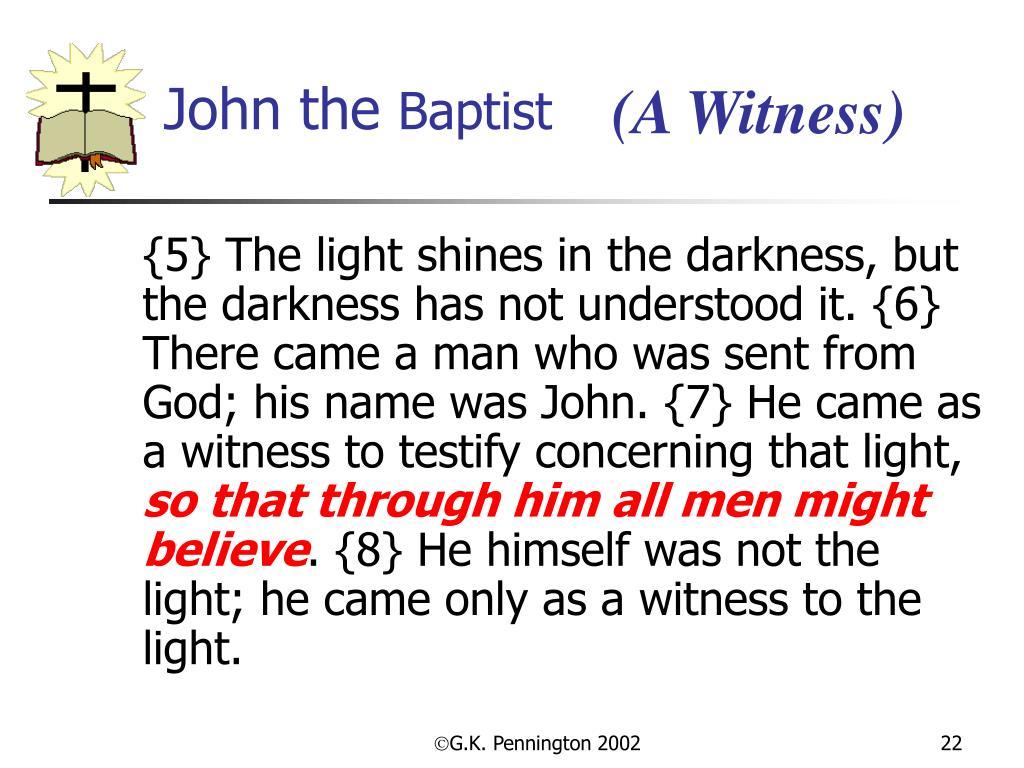 (A Witness)
