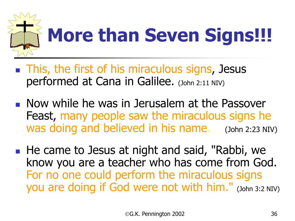 More than Seven Signs!!!