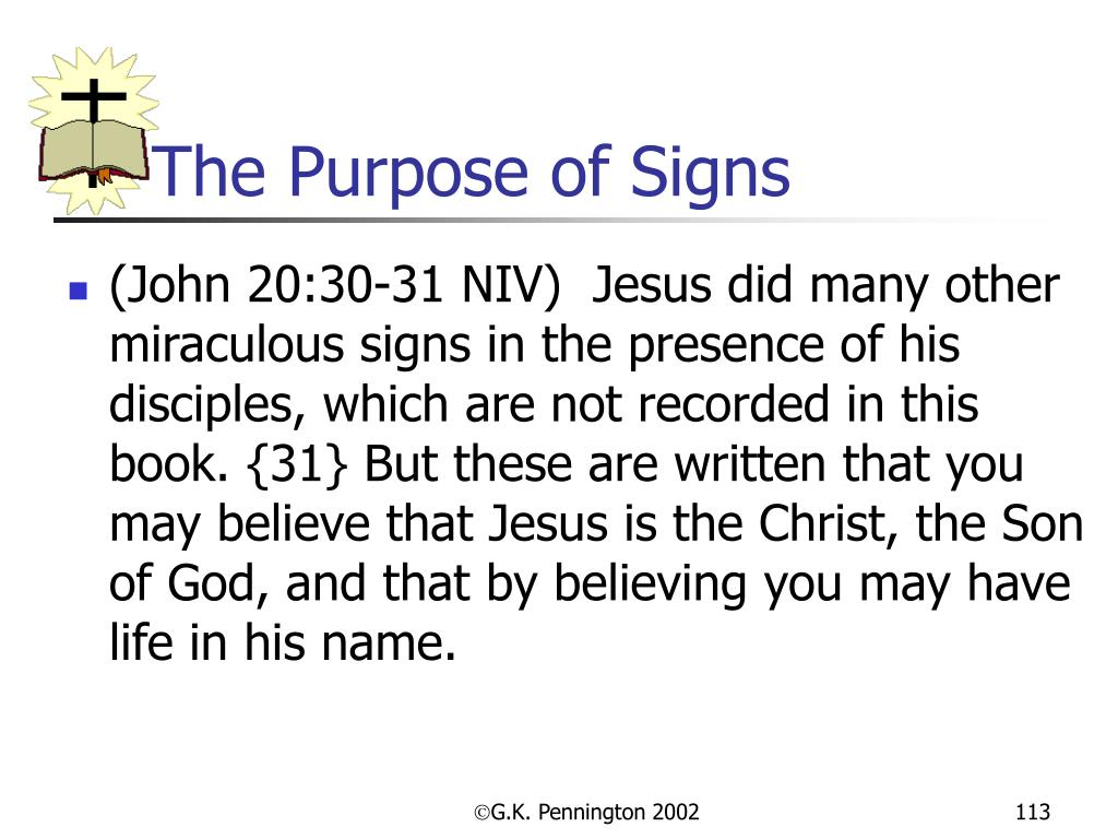 The Purpose of Signs