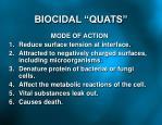 biocidal quats
