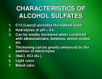 characteristics of alcohol sulfates