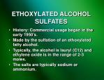 ethoxylated alcohol sulfates