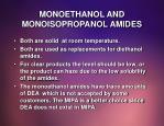 monoethanol and monoisopropanol amides