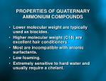 properties of quaternary ammonium compounds
