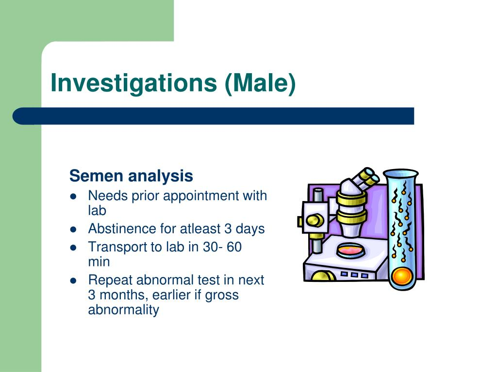 Investigations (Male)