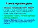 p down regulated genes
