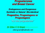 progesterones and breast cancer