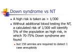 down syndrome vs nt