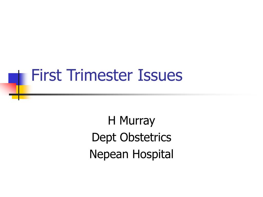 first trimester issues l.