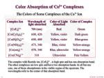 color absorption of co 3 complexes