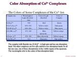 color absorption of co 3 complexes1
