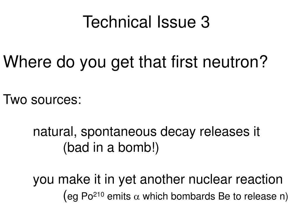 Technical Issue 3