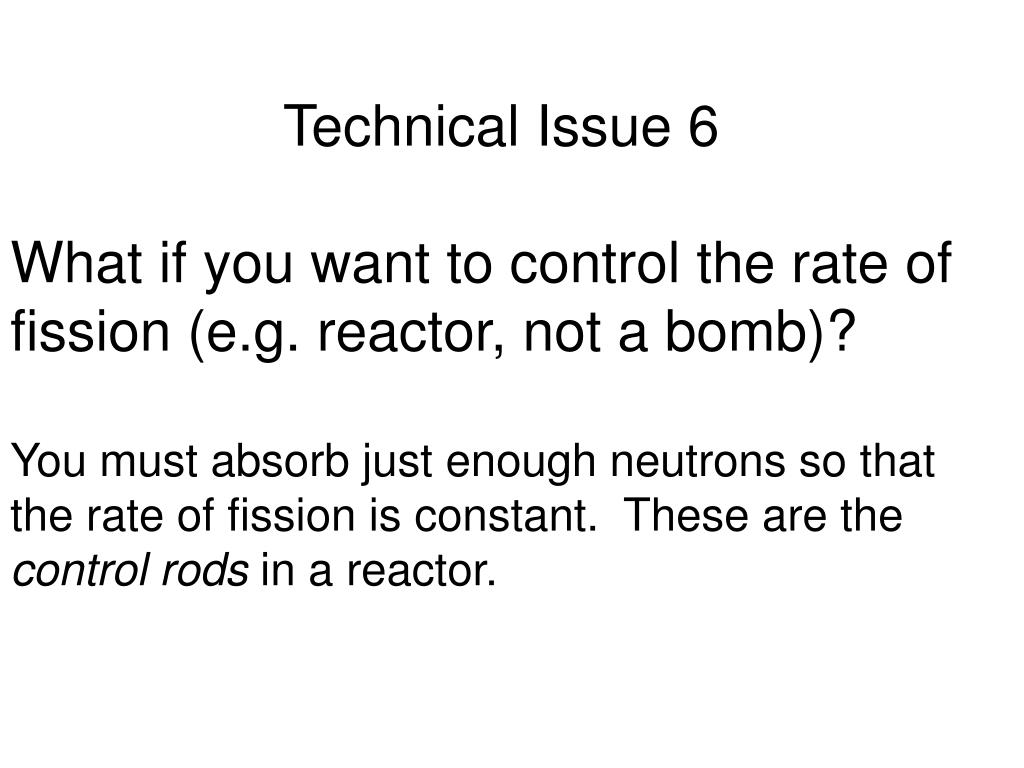 Technical Issue 6