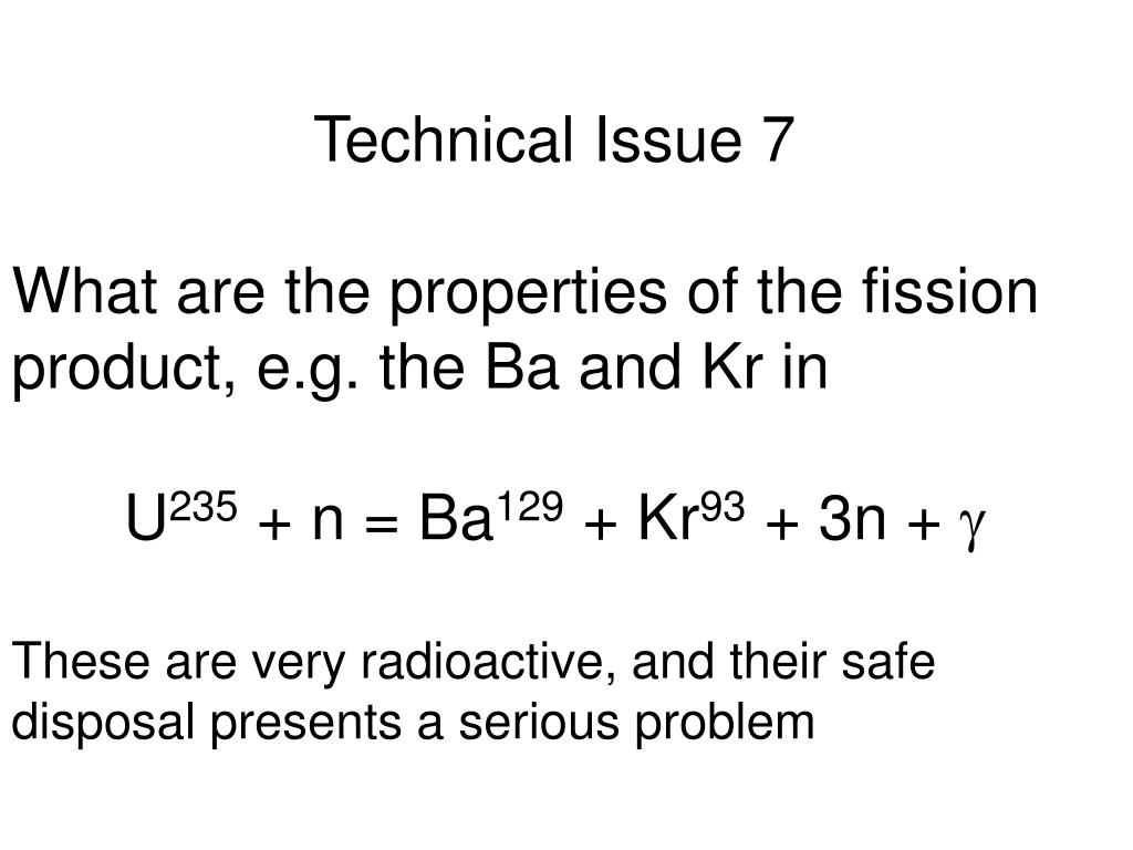 Technical Issue 7