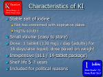 characteristics of ki
