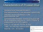characteristics of prussian blue