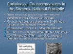 radiological countermeasures in the strategic national stockpile