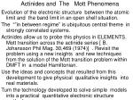 actinides and the mott phenomena