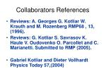 collaborators references