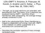 lda dmft v anisimov a poteryaev m korotin a anokhin and g kotliar j phys cond mat 35 7359 1997