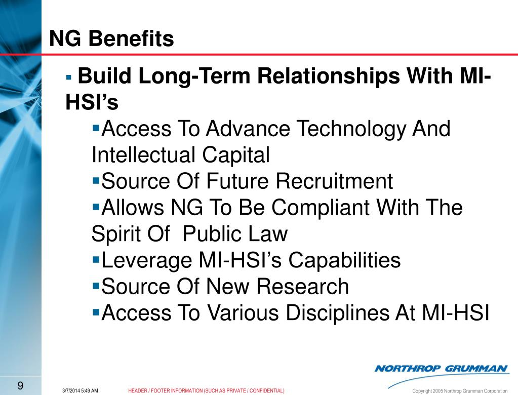 NG Benefits