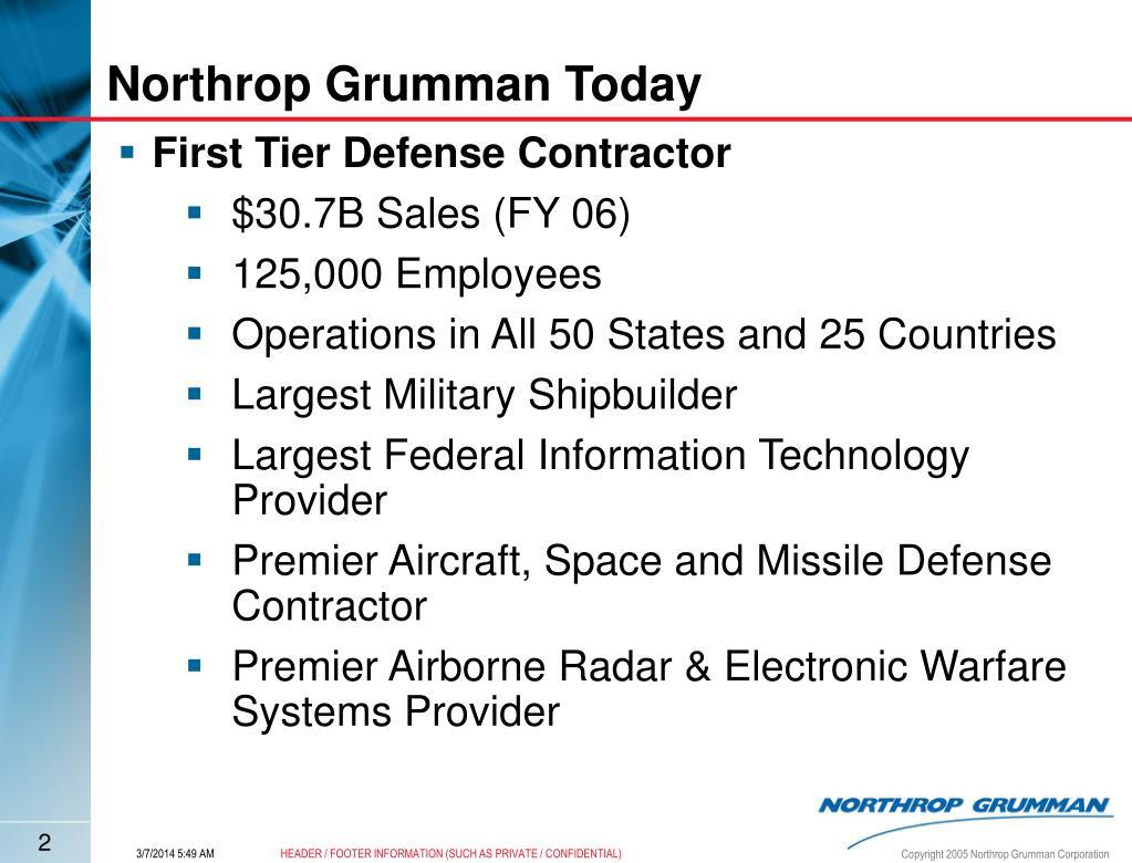 Northrop Grumman Today