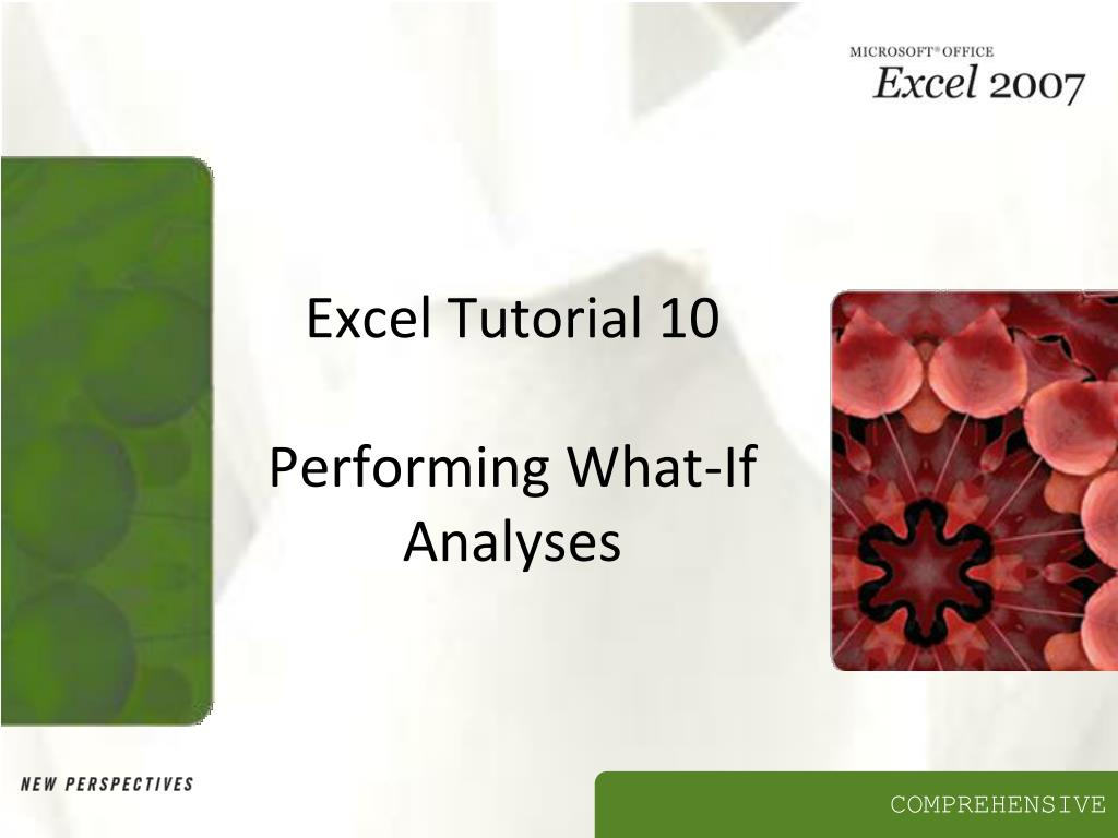 excel tutorial 10 performing what if analyses l.