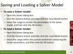 saving and loading a solver model