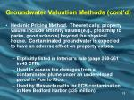 groundwater valuation methods cont d13