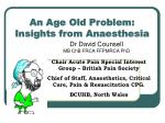 an age old problem insights from anaesthesia