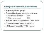 analgesia elective abdominal