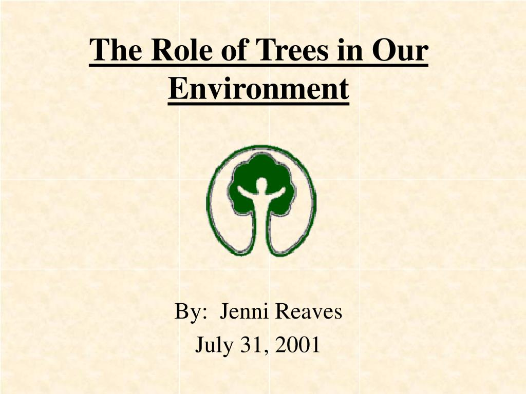 the role of trees in our environment l.