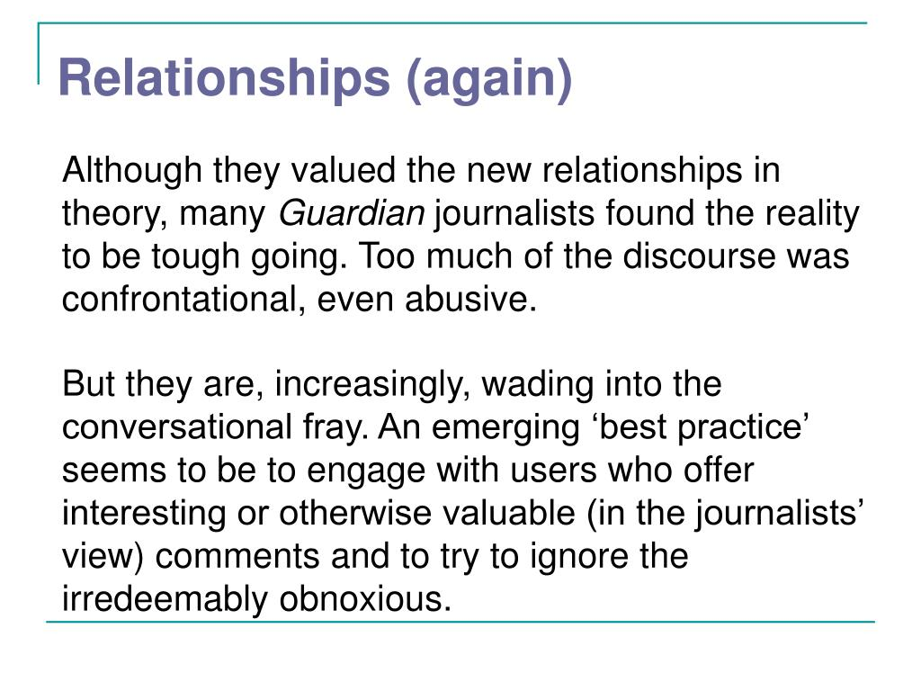 Relationships (again)