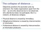 the collapse of distance