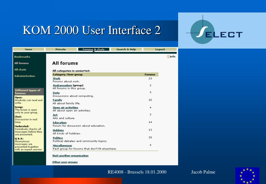 KOM 2000 User Interface 2