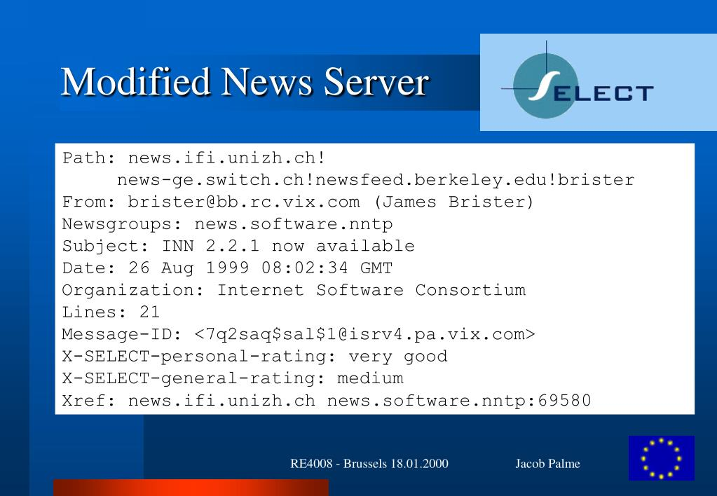 Modified News Server