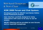 web based groupware news client