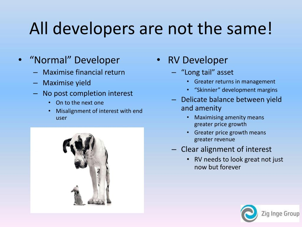All developers are not the same!