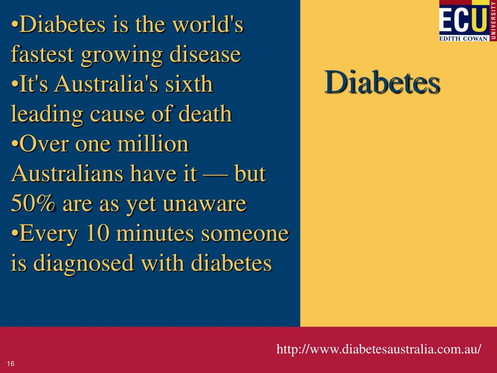 Diabetes is the world's fastest growing disease