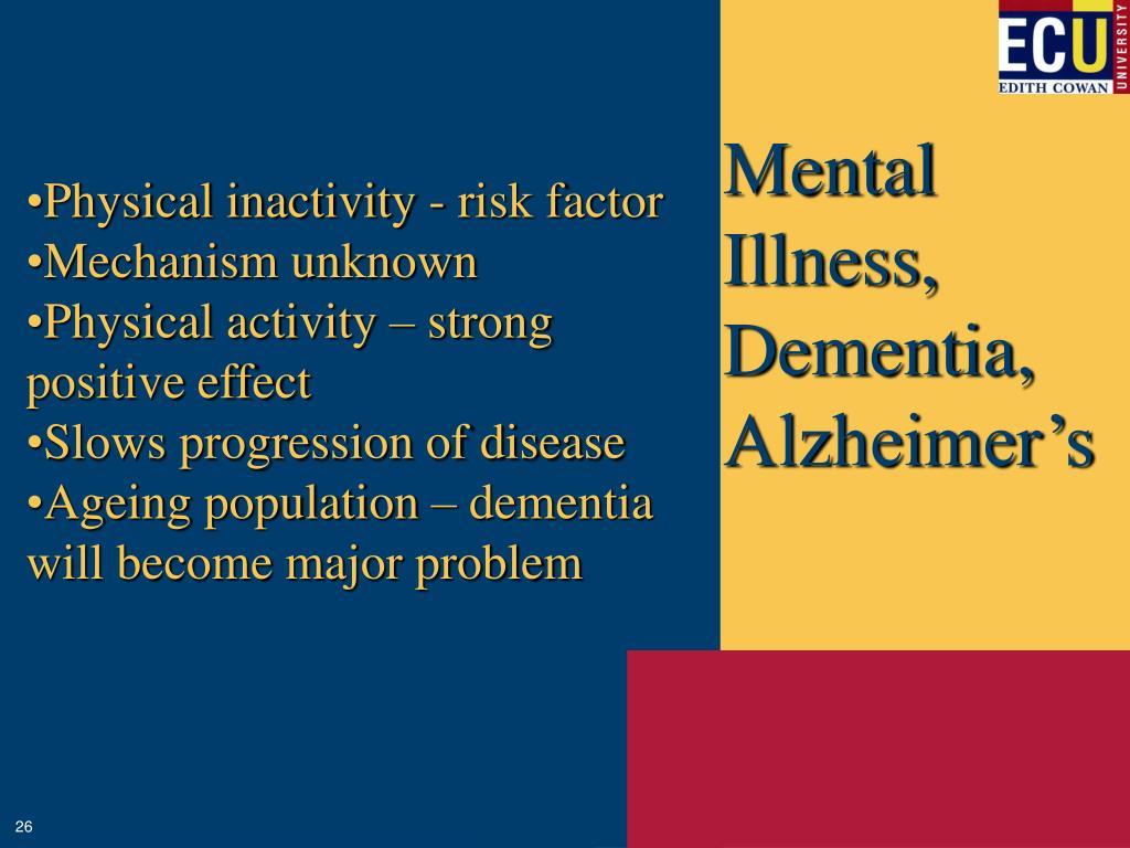 Mental Illness, Dementia, Alzheimer's