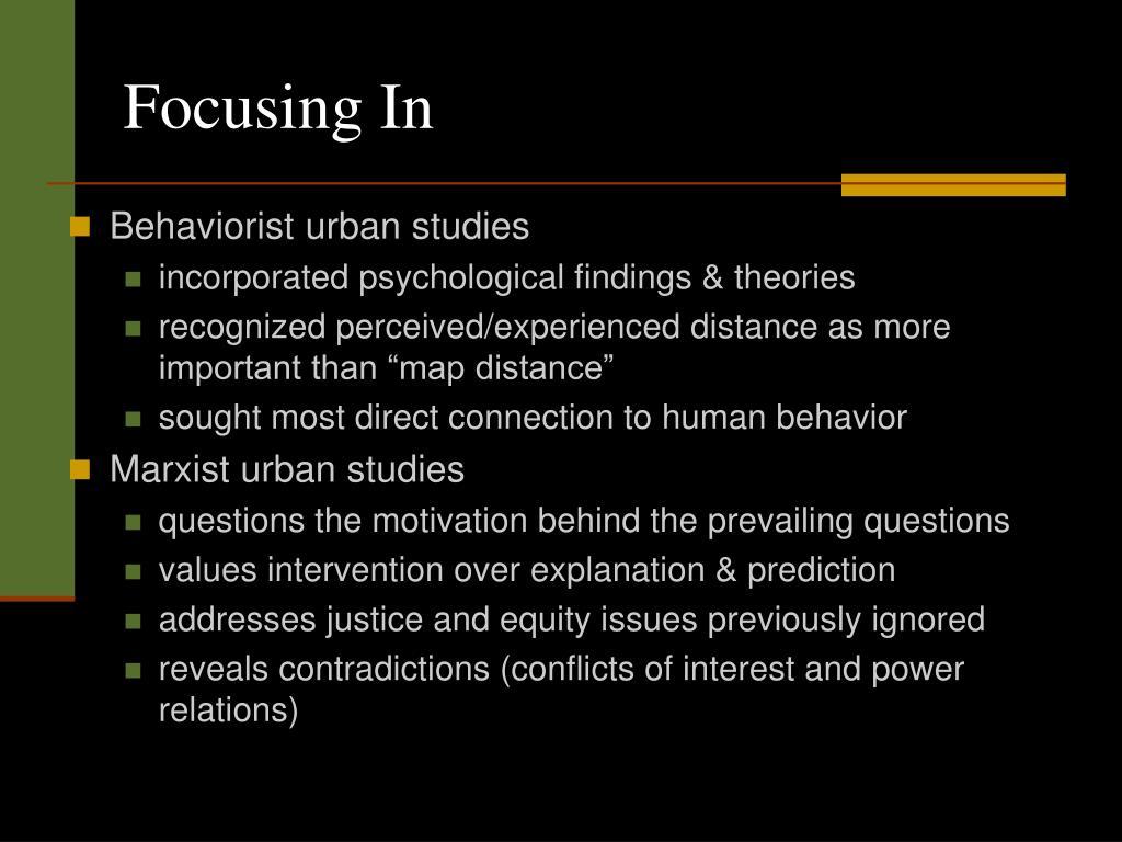 PPT - URBAN STUDIES PowerPoint Presentation - ID:163194